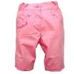 KGP293-13 Kidsplanet กางเกงสามส่วนเด็กหญิง สีชมพู ปักลายดอกไม้เลื่อมสีเงินข้างกระเป๋าทั้งสองข้าง เหลือ Size 12M