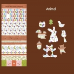 Fabric Sticker Ver.2 Cotton (Animal)