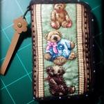 กระเป๋าสองซิปลายหมี ผ้าอเมริกา- สั่งทำ