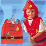 ชุดนักดับเพลิง สีแดง แพ็ค 10 ชุด ไซส์ 57*44.5 cm (เหมาะสำหรับ 3-8 ขวบ)