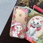 เคส iPhone 6s Plus / 6 Plus (5.5 นิ้ว) พลาสติกโปร่งใสสกรีนลายมารีแมวน้อยน่ารักๆ ราคาถูก