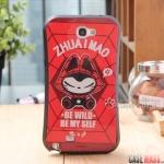 Case Note 2 Case Samsung Galaxy Note 2 II N7100 ZHUAI MAO CARTOON เคสซิลิโคนทรงเว้าลายแมวกวนๆ น่ารักๆ