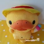 ตุ๊กตาตัวตุ่นปากเป็ดคาโมโนฮาชิคาโม่ หมวกเหลือง ถือไอศครีม San-x kamono hashikamo yellow hat with icecream rainbow