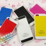 case iphone 5 เคสไอโฟน5 เคสสีแนวๆ สีทูโทนสลับขาว เรียบแนวสวย มีหลายสีให้เลือก