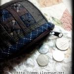 กระเป๋าเหรียญผ้าทอญี่ปุ่นลายกังหัน - สั่งทำนะคะ