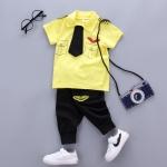 ชุดเซตนักบินสีเหลือง [size 6m-1y-2y-3y]