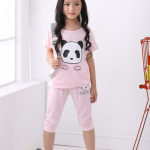 เสื้อ+กางเกง สีชมพู แพ็ค 5 ชุด ไซส์ 100-110-120-130-140