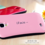 case S4 เคส Samsung Galaxy S4 i9500 iFace เคสซิลิโคนทรงเว้าด้านในนุ่มๆ ด้านนอกสีสดเงาๆ ขอบกันลื่น