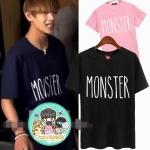 เสื้อยืด (T-Shirt) MONSTER แบบ V