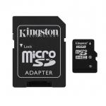 เม็มโมรี่การ์ด Kingston Micro SD Class 10 - 16GB with Adapter