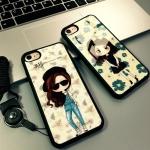 Case iPhone 7 Plus (5.5 นิ้ว) พลาสติกลายผู้หญิงแสนน่ารัก ราคาถูก (ไม่รวมสายคล้อง)