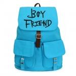 กระเป๋าเป้แบบผ้า BOYFRIEND แบบ 2 (สีฟ้า)