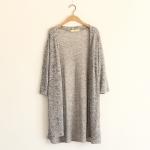 [Pre order] MM4292 เสื้อคลุมคาร์ดิแกน ตัวยาว แบบบาง สไตล์เกาหลี Sweater Cardigan