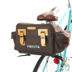 กระเป๋าใต้อานวินเทจ VINCITA RETRO TEMPO SADDLE BAG ,B153T-M มาพร้อมตะแกรง