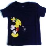 WD7 The Wonderful World Of Disney เสื้อยืดเด็ก แขนสั้น สีกรมท่า Mickey & Goofy Cotton 100% Size 18M-4Y