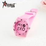 นาฬิกา MY EXO สีชมพู (กันน้ำ)