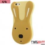 เคสไอโฟน4 4s เคสซิลิโคน 3D กระต่ายสีหวานๆ สวยๆ น่ารักๆ Korea Cute Rabbit 3D Silicone Case