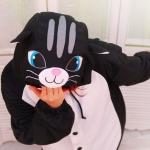 ชุดแฟนซีแมวดำ (ไซส์ L)