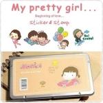 Pretty Girl Sticker&Stamp (MOMOI)