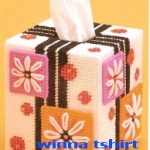 ชุดปักแผ่นเฟรมกล่องทิชชู ลายของขวัญ
