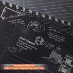 Black Letter Pad & Envelope