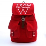 กระเป๋าเป้แบบผ้า TVXQ (สีแดง)