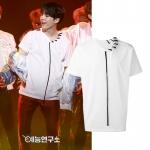 เสื้อยืด (T-Shirt) ถักเชือกที่คอเสื้อ แบบ Suga