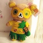 ตุ๊กตาหมีรีแลคคุมะอโลฮ่าฮาวาย Relaxing Bear Rilakkuma Plush Dolls Hawaii Series Size M สูง 32 ซม.