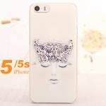 case iphone 5 / 5s เคสพลาสติกแบบบาง ประดับเพชรสี สวยๆ ลายอาร์ตๆ น่ารักๆ ราคาส่ง ขายถูกสุดๆ