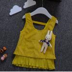 เสื้อ สีเหลือง แพ็ค 4ชุด ไซส์ 5-7-9-11