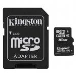 เมมโมรี่การ์ด Kingston Micro SD Card Class 4 (16GB) พร้อมอเดปเตอร์