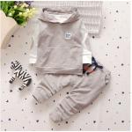 เสื้อตัวนอก+เสื้อตัวใน+กางเกง สีเทา แพ็ค 4ชุด ไซส์ S-M-L-XL