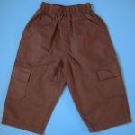 MKid027 Mall Kids กางเกงขายาวเด็กชายผ้าคอตตอน สีน้ำตาล เอวยางยืดใส่สบาย Size 12M