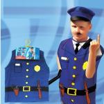 ชุดตำรวจ สีน้ำเงิน แพ็ค 10 ชุด ไซส์ 57*44.5 cm (เหมาะสำหรับ 3-8 ขวบ)