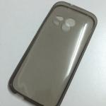เคสนิ่มใส (หนา 0.3 mm) HTC One M8 mini สีเทา