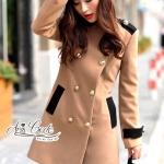 [พร้อมส่ง] เสื้อผ้าแฟชั่นเกาหลี เสื้อโค้ทสไตล์คลาสสิคเรียบหรู โทนสียอดนิยม ด้านหน้าแต่กระดุมสีทองเรียงเป็น2แถว