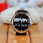 นาฬิกาข้อมือหน้าปัดทอง 2PM