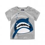 เสื้อลายฉลามสีเทา [size 2y-3y-4y-5y-6y-7y]
