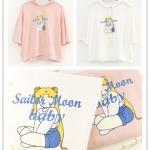 เสื้อฮู้ดแขนสั้น Sailor Moon Babay