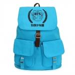 กระเป๋าสะพายหลังBTS LOGO สีฟ้า