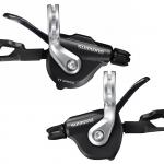 มือเกียร์ 105, สำหรับใส่แฮนด์ตรง SL-RS700, R/L, 2X11-SPD, สีเงิน, สีดำ