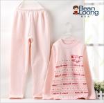 เสื้อ+กางเกง 8053A สีชมพู (มีกำมะหยี่ด้านใน) แพ็ค 6 ชุด ไซส์ 130-130-140-140-150-150
