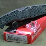 "Spyderco Endura 4, Plain 3-3/4"" ZDP-189 Blade, Green FRN Handle C10PGRE"