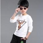 เสื้อ สีขาว แพ็ค 5 ชุด ไซส์ 120-130-140-150-160