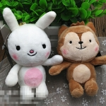 พวงกุญแจตุ๊กตาผ้า Neukkhun & Hayang