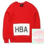 เสื้อแฟชั่นแขนยาว HBA EXO BAEKHYUN สีแดง