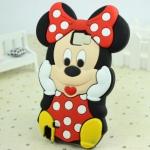 Case Samsung Galaxy Note 2 Minnie Mouse ซิลิโคน 3D น่ารักๆ เคสมือถือราคาถูกขายปลีกขายส่ง -B-