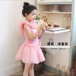 ชุดเซท เสื้อ+กระโปรง สีชมพู แพ็ค 5ชุด ไซส์ 100-110-120-130-140