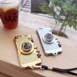 Case iPhone 6 Plus / 6s Plus (5.5 นิ้ว) พลาสติกเลียนแบบกล้องถ่ายรูปสีแวววาว เปิดเป็นที่ตั้งได้ ราคาถูก (ไม่รวมสายคล้อง)