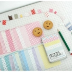 Tin Case_Masking Sticker Set (Pastel)